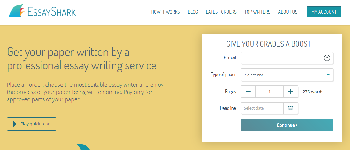 essayshark writing service