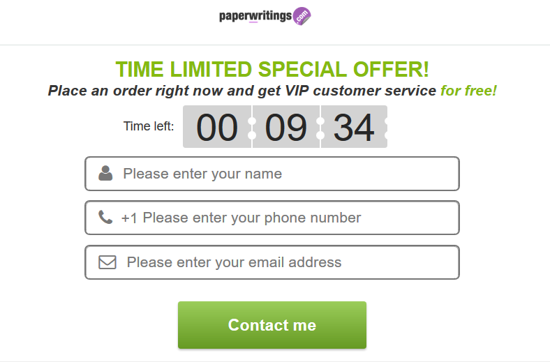 paperwritings discount