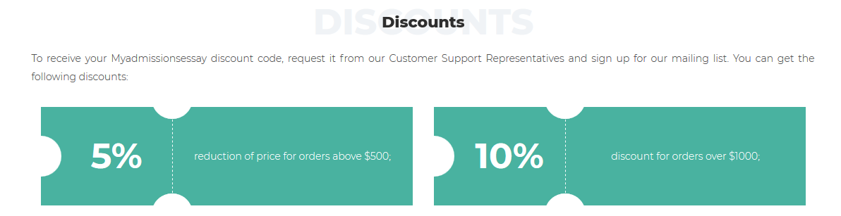 myadmissionsessay discount code