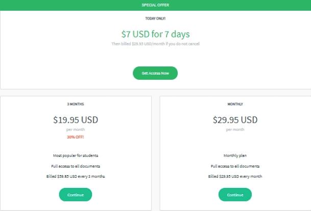 bartleby.com prices